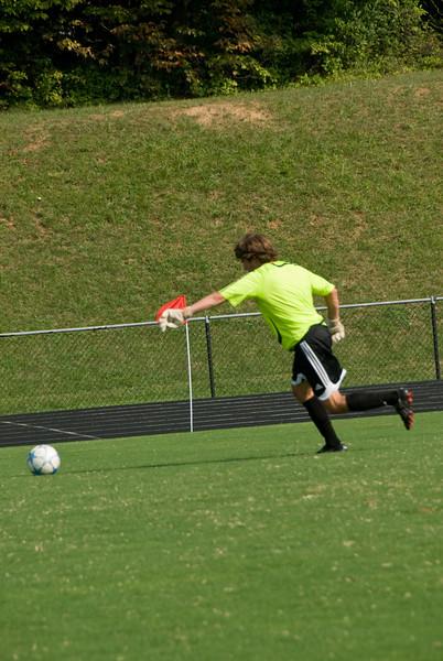 Preseason Practice Aug 2007--Churchill HS Soccer Coach's Goalie.