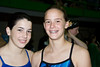 Competitors and friends, Alex Stanton of Churchill - Soph poses with Emily Shmidt of Whitman - Fr