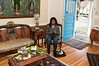 Premila Rajamani, who came for a facial, waits in the reception area of Amani Spa.