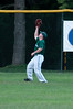 Left fielder Luke Adkins makes the catch.
