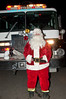 Santa is ready to board the fire engine that will take him into various Potomac neighborhoods.