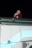 Santa sits atop the fire engine that will take him through the streets of Potomac.