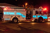 A Cabin John Park Fire Department fire engine, decked out with holiday lights, prepares to carry Santa to meet kids in several Potomac neighborhoods.