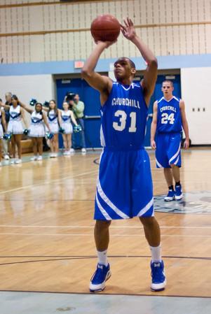 Churchill-Whitman Basketball 2-27-09
