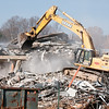 The destruction of the old Cabin John Middle School
