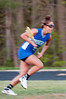 Angela Biciocchi of Churchill is a blur as she flys down the field.