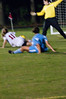 Allison Yeager, Wootton Sr. (#11) has her shot blocked by the Whitman Goalie , but Wootton Jr. Becca Kelly (not in picture) put in the rebound for Wootton's 2nd goal.
