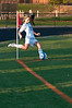 Emily Heger of Churchill withh a corner kick.