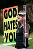 """*Westboro (KS) Baptist Church protests at Walt Whitman HS because it was named after a """"fag""""."""