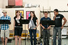 Performers at an open rehearsal sing some music from an upcoming show at Adventure Theatre.