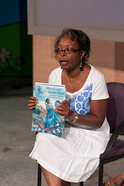 JoAnn Williams, Executive Director of the Afrocam Continuum Theatre Company, reads the story of Miranday and Brother Wind.  A play based on that story will be presented jointly by the African Continuum Theatre Comany and Adenture Theatre later this year.