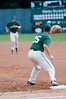 Second baseman Nick Schneeberger throws to 1B Austin Harclerode for the out.