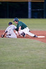 Nick <br /> schneeberger gets safely back to 2nd base on a pickoff attempt.  However the ball gets away ...