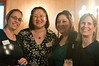 Leila Merzouk, Grace Li, Rakhee Dhawan (all of PNC Bank), and Anne Thompson (of A Wider Circle) network at the event.