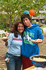 Rita Carvajal and Daniel Wigle (Churchill Freshman) are enjoying the food and the party.