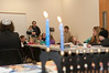 The audience listens to Rabbi Mindy Portnoy tell the Chanukah story.