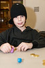 Adam Inzelstein, 9 yers old, plays dradle.