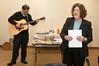 Rabbi Jonathan Perlmanand Rabbi Mindy Portnoy lead the singing of traditional Jewish songs.