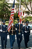 The honor guard from the national guard