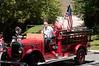 An antique fire engine