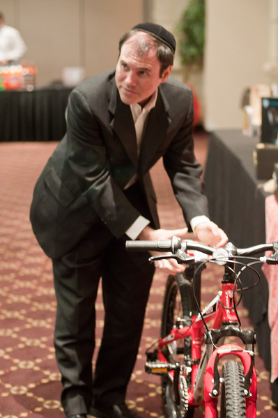 Andrew Jacobs of Silver Spring considers entering the drawing for this bicycle.