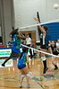 Serafina Arthur of Churhill smashes the ball past Vera Ivezic of Whitman.