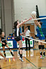 Paulina Levy of Whitman and Wendy Zhao of Whitman battle at the net.