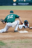 Pickoff attempt at 1B (first baseman is Adam Barry).  Although the runner got back in time, on the next play he was caught leaning the wrong way and was thrown out in a rundown between first and second bases.