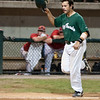 Michael Aldrete approaches the plate after hitting a game-winning two run homer in the bottom of the seventh.