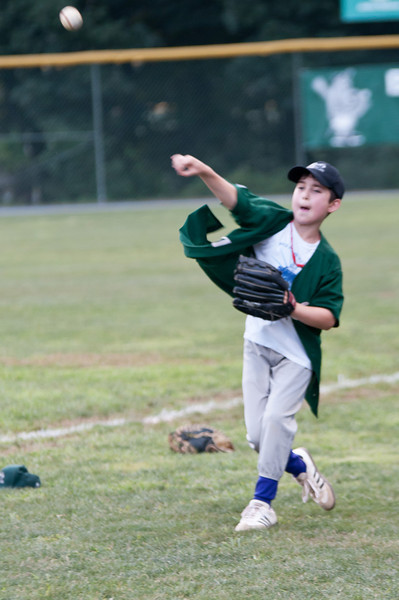 Even the ball boys have to warm up before the big game (Ben Wolstein - 10 years old).