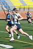 Katie Calder of Bullis tries to run past Taylor Chamness of O'Connell