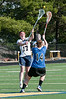 Katie Silverstein of Bullis duels with Sarah Kolodzy of O'Connell.