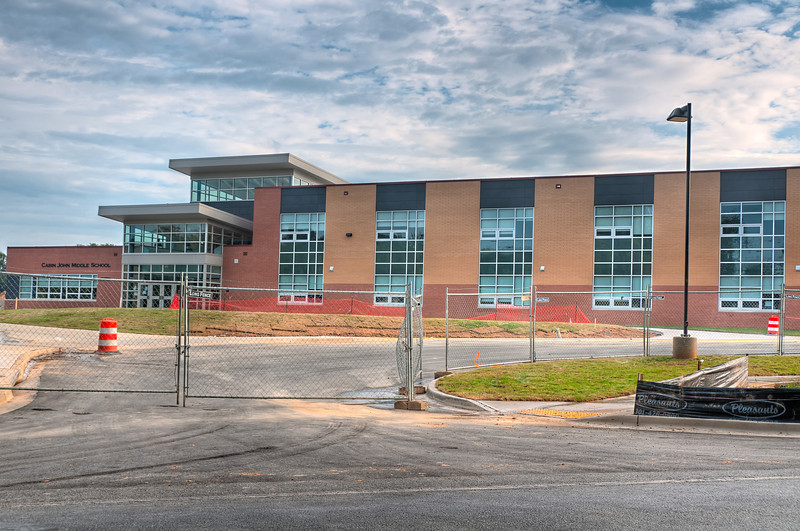 The Cabin John Middle School is almost ready for occupancy.