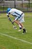 Matt Leonard saves the ball from crossing the sideline.