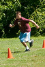 Coach Kuhn's younger son, Jake Kuhn )middle school) runs the agility test.