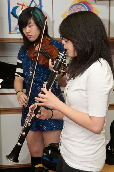 And there was music...<br /> Anna Rose Chi, 15 years old (violin) and Somin Kwon, 16 years old (clarinet)