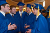 Jonathan Reich, Noah Berman, Adam Weinberger, and Evan Szymkowicz relax befre the graduation ceremony.