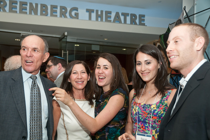 The Gelman family: Michael, Susie (outgoing President of JCA), Rachel, Sarah, and her fiance Dan Ruenen.