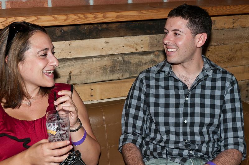 Rachael Rubens and Daniel Zussman enjoy a laugh together.