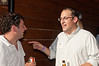 Jon Halperin (JNETVA) talks with Jeremy Rosen (Jewish Federation - coach for the Federation's Young Leadership Division).