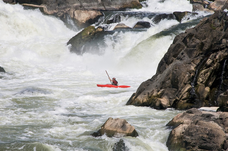 Kayaking fun(?) at Great Falls