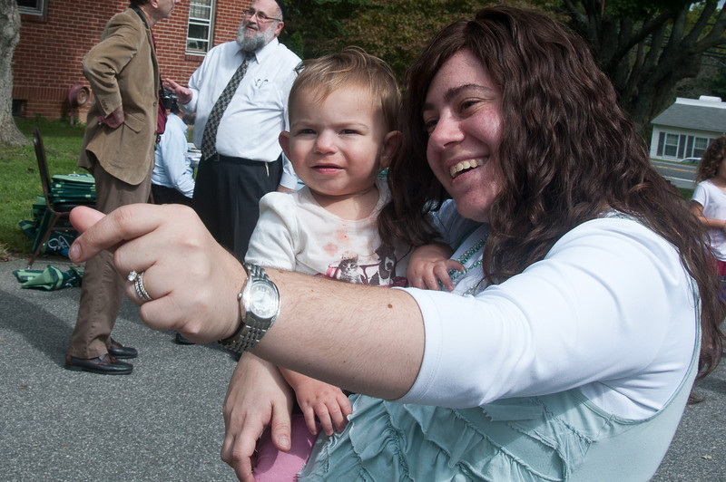 Sixteen month-old Shiffy Schwartz of Olney with her mother, Meghann Schwartz.  Meghann is the Event Coordinator of the Jewish Festival of Olney.