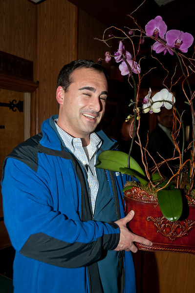 Gregory Frank is the winner of the orchard door prize given by Plants, Etc.
