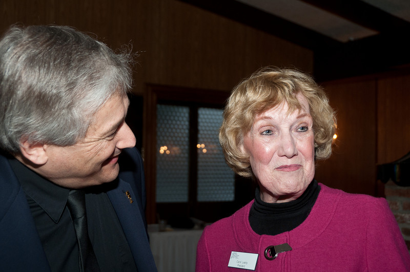 John Kolm of Team Results USA shares an amusing moment with Carol Leahy, President of the Potomac Theatre Company.