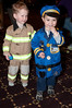 Fireman Wyatt Roth (3 years old) and policeman Max Weitzner (3 years old)