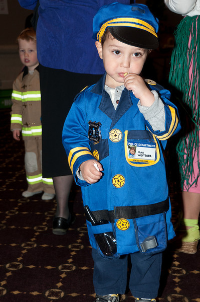 Three-year old policeman Max Wietzner
