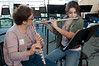 Diana Loeb and her 14 year old daughter Amelia form a flute duet to provide the musical entertainment.