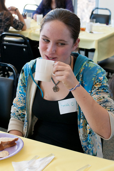 Sarah Clark, a student at the University of Maryland, is actually drinking tea at the Tea.