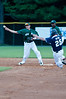 #27 shortstop Makes the out at second base and throws to first to complete the double play.