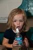 Olivia Willard (2 years old) needs a drink.